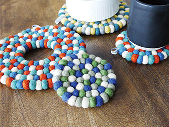 BonBon Wool Trivet Mix Blue A224BL