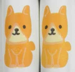 [Japanese] Animal Chopsticks Dog Dishwasher safe 22.5cm pontoon ball Shiba with chopstick bag