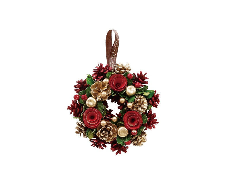 Grey Wreath Gold Pine Rose S 4008736-01