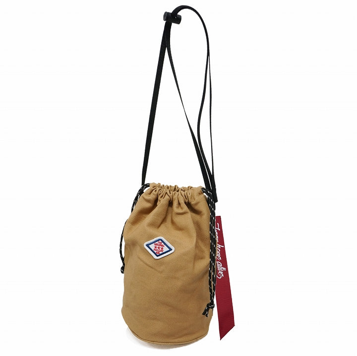 Bag Drawstring Kinchaku Shoulder Bag Men Women Canvas Canvas HolidayA.M. 1pcs