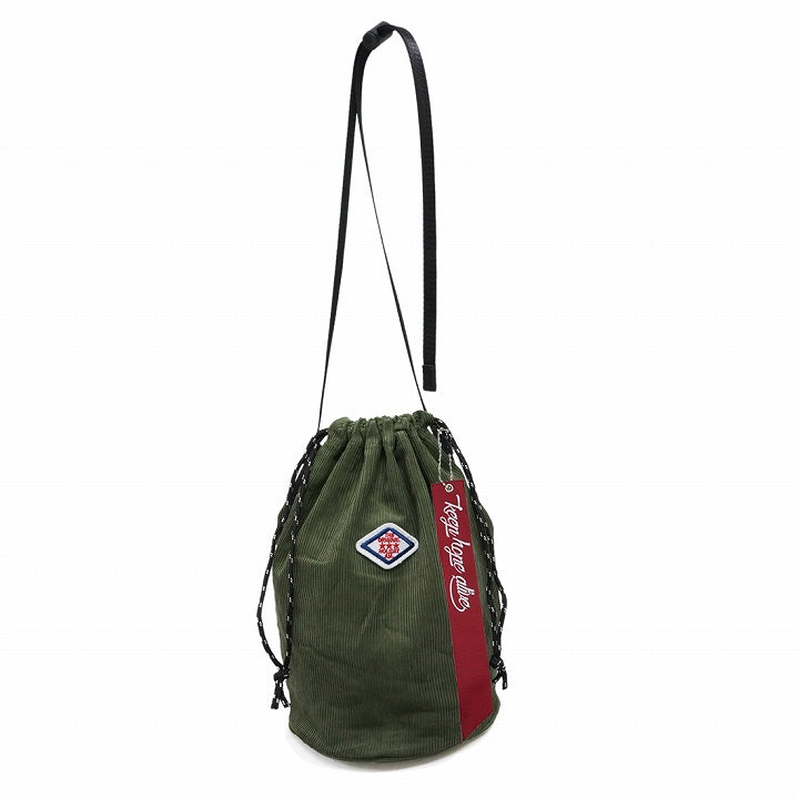 Bag Drawstring Kinchaku Shoulder Bag Men's Women's Corduroy Cotton HolidayA.M. 1 pair