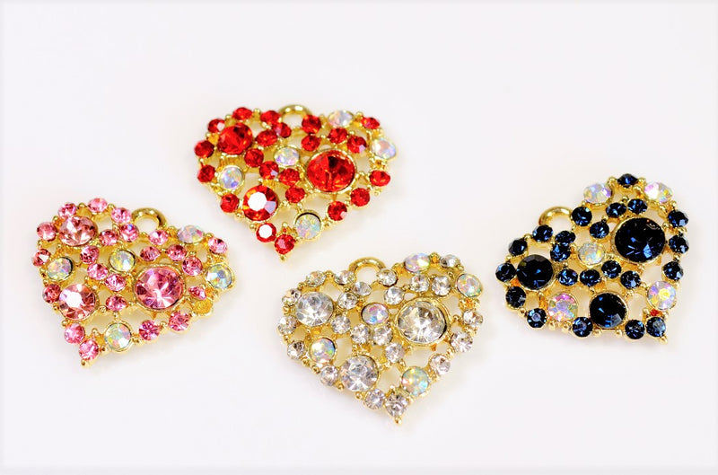 Heart Charm - Heart Parts (10 pieces per case)