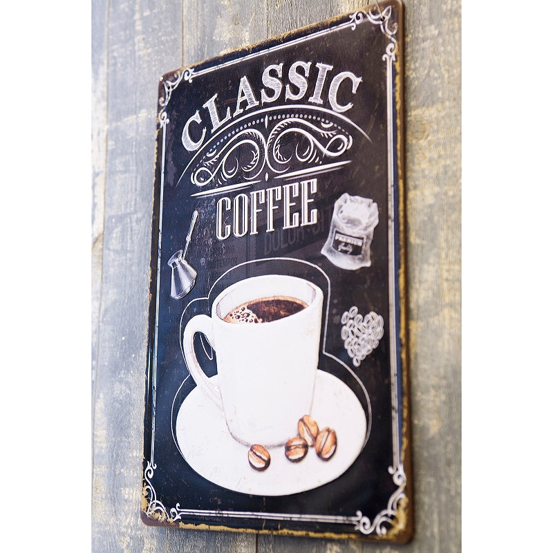 Z211 Antique Metal Plate S CLASSIC COFFEE