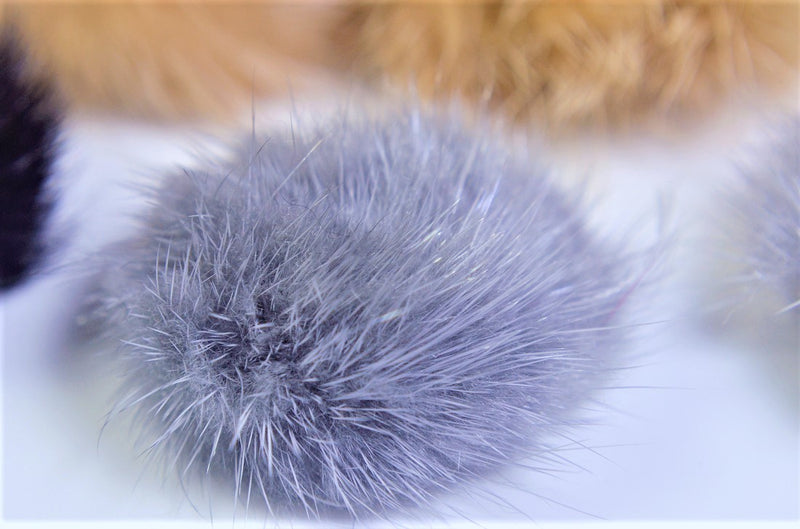 Autumn & Winter Accessories] Voluminous mink fur (approx. 40mm including hair tips), attachable type, 10 pieces per case