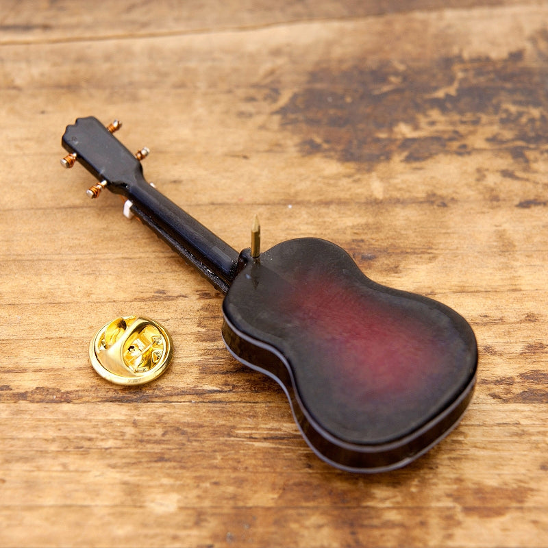 Miniature Band Pin Badge Classical Guitar