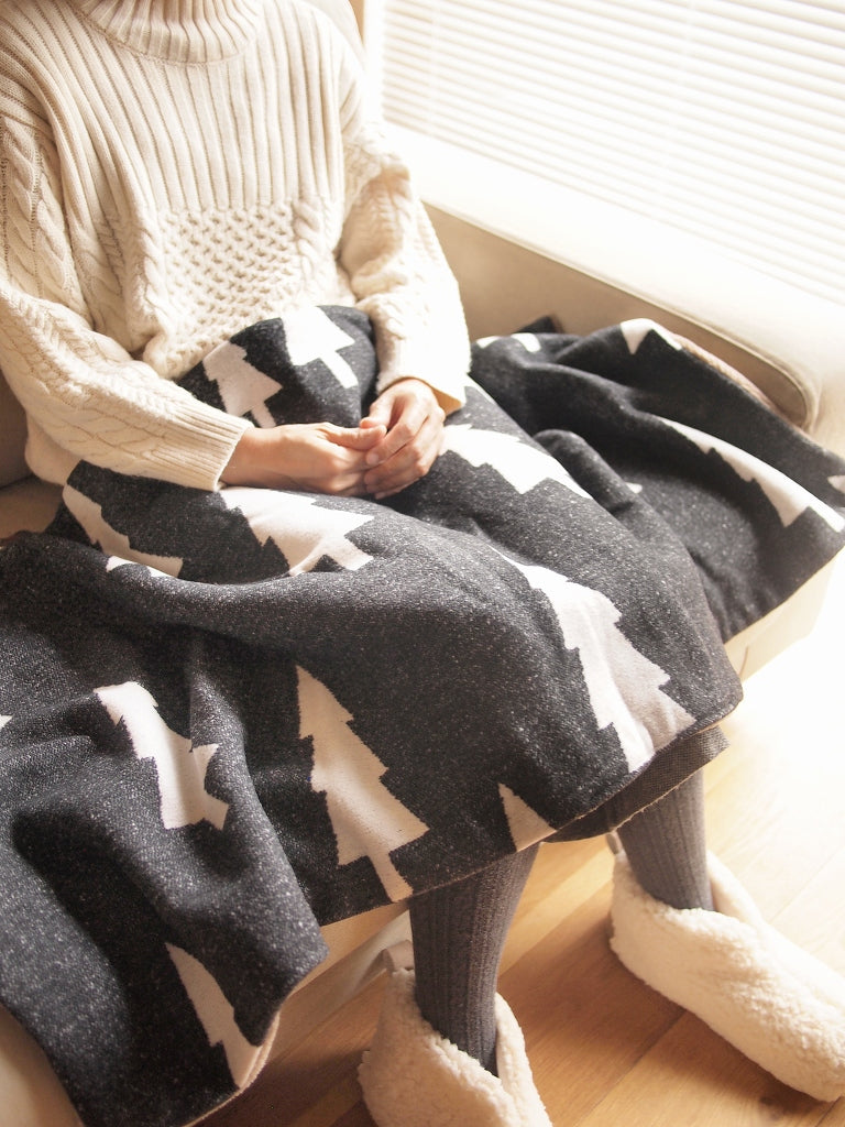 3way Blanket Tree Grey×Ivory
