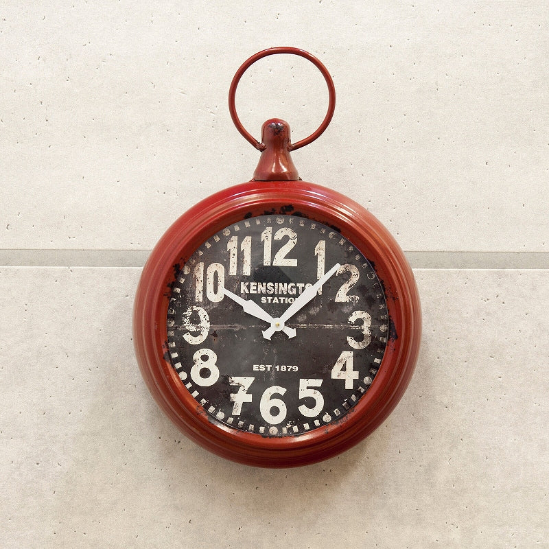 HLCZ6402G Antique Round Clock KENSINGTON RED