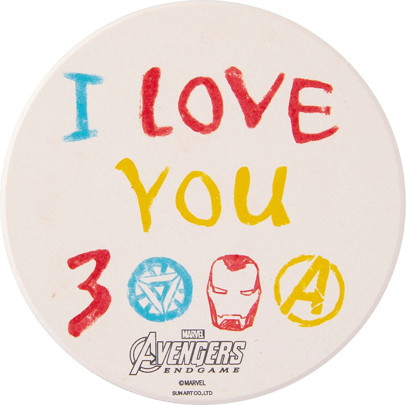 Water-absorbent coaster I LOVE YOU 3000 SAN3239