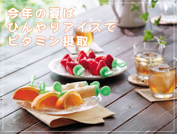 Fruit ice tray 1 set