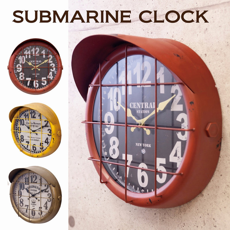 Antique Clock Submariner 2 RED BLKR1758-2