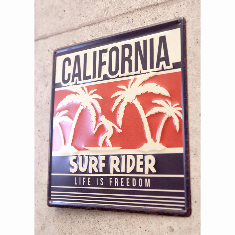 Antique Embossed Plate CALIFORNIA Surf Rider MP19014