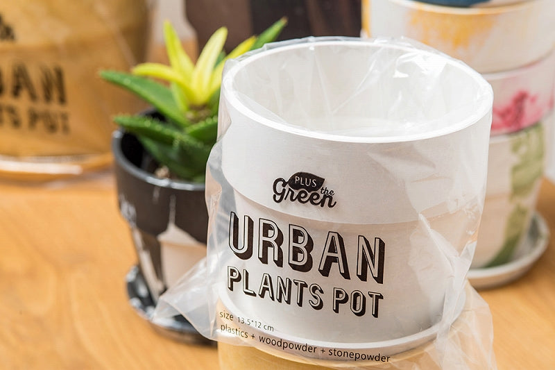 80983 Urban plant pot cinnamon/charcoal