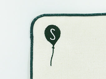 HELLO BEAR Handkerchief Initial S [Made in Japan] A377S
