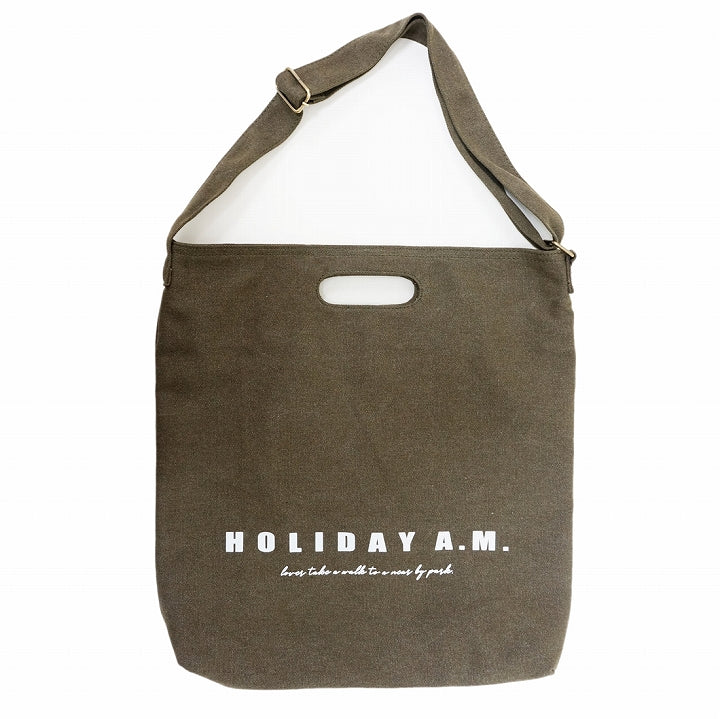 Bag Shoulder Bag Tote 2WAY Women's Men's Canvas Canvas A4 HolidayA.M. 1pc