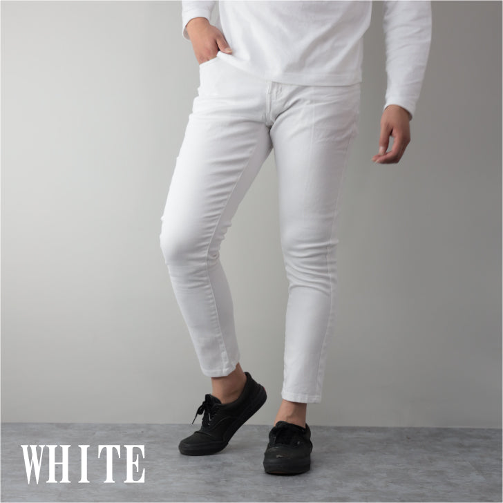 Chinos Men's Ankle Cut Ankle Length Stretch Skinny Ankle Pants 1 pair