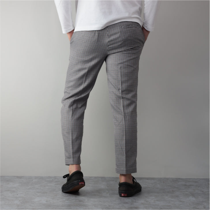 Men's Ankle-length Checked Trousers Slacks Trousers 1-Piece