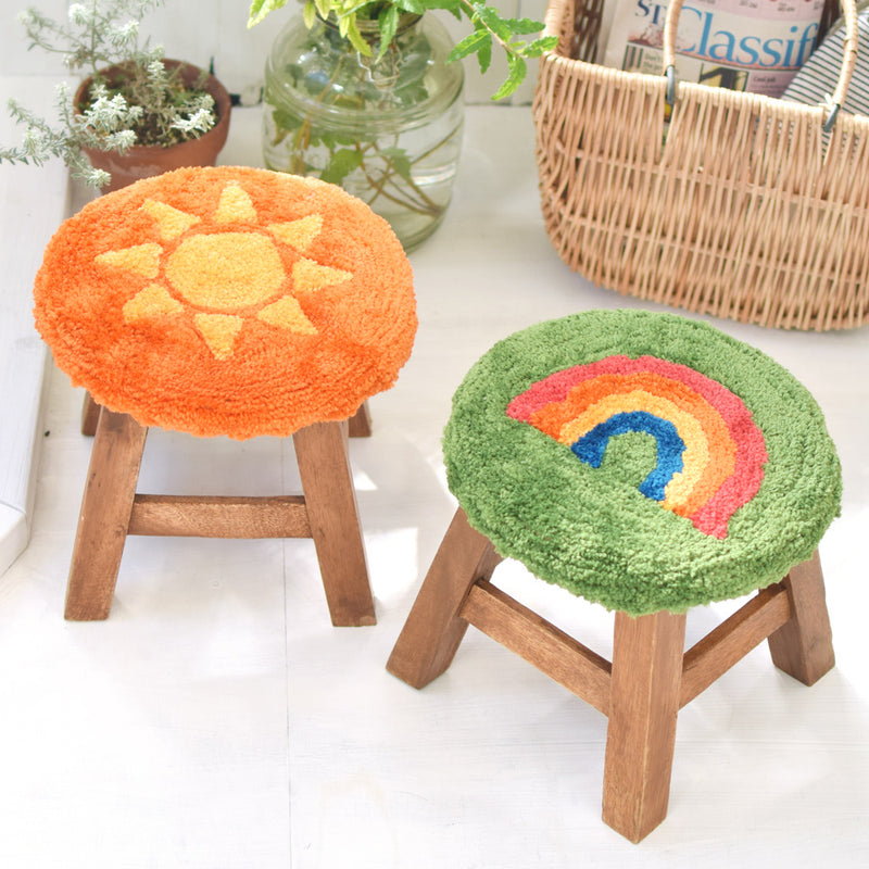 Tufted stool covers, set of 1