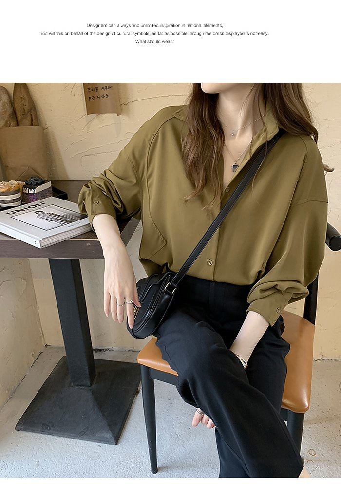 COCOMOMO Solid Women's Tops, Shirts, Blouses, Fashionable 1Pc