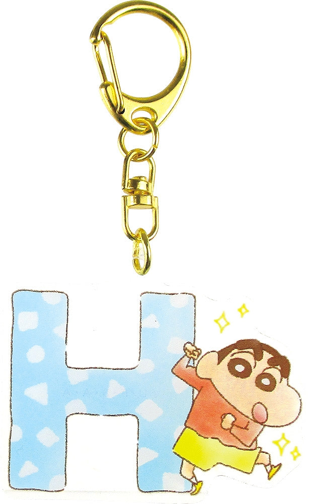 Crayon Shin-chan Initial Acrylic Keychain H 1 Case 5 Pieces