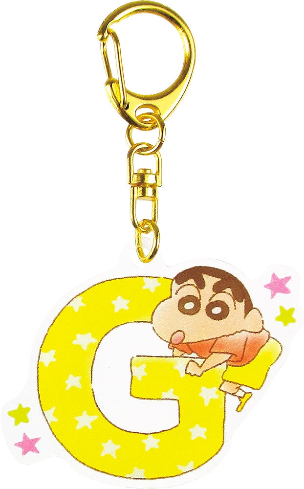 Crayon Shin-chan Initial Acrylic Keychain G 1 Case 5 Pieces