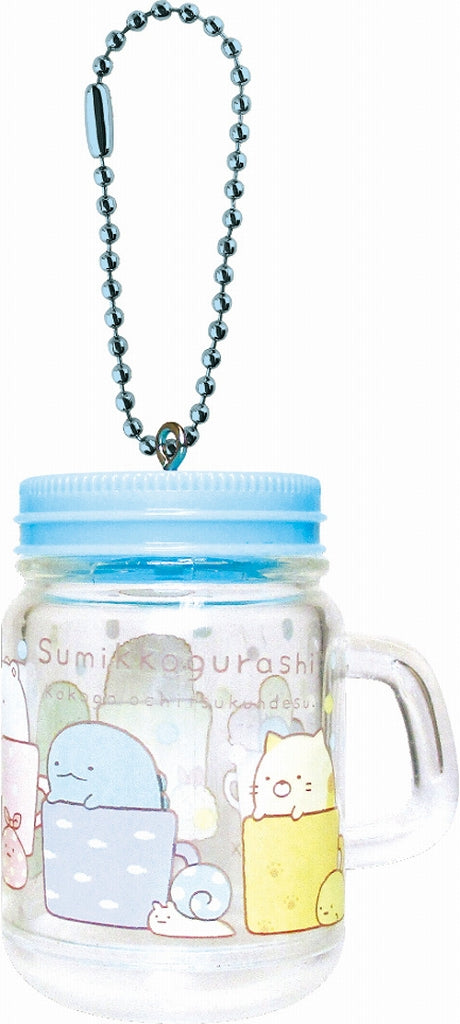 Sumikko Gurashi Drink Jar Type Keychain Cup-in SG-5521764CP 1 Case 3 Pieces