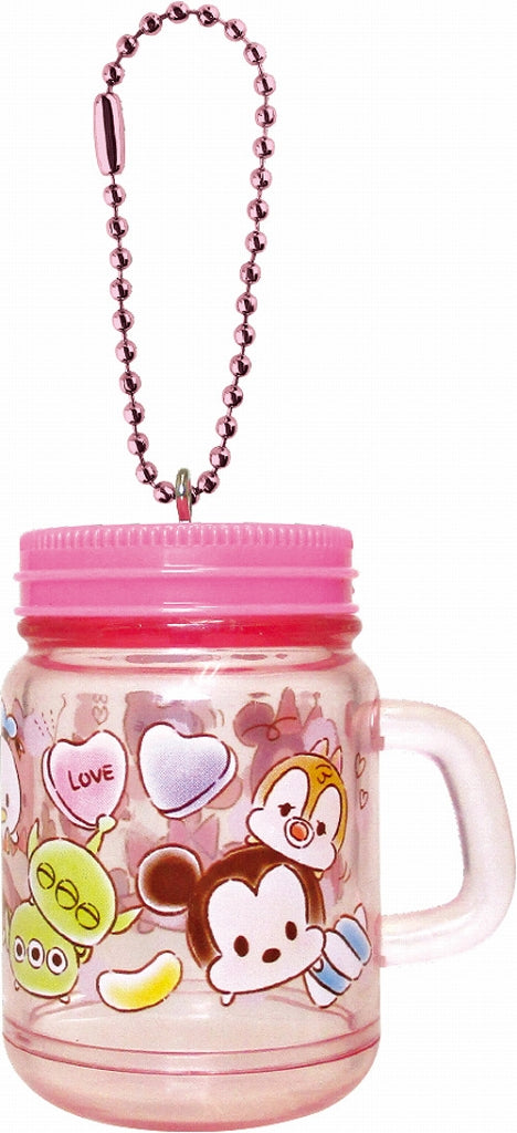 Disney Drink Jar Type Keychain Tsum Tsum Love Love DN-5521760TM 1 Case 3 Pieces