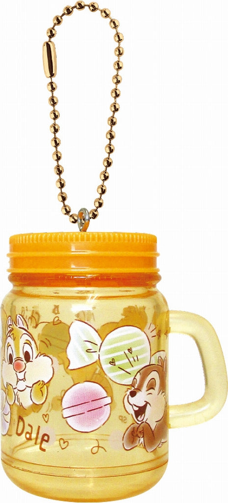 Disney Drink Jar Type Keychain Chip & Dale DN-5521759CD 1 Case 3 Pieces