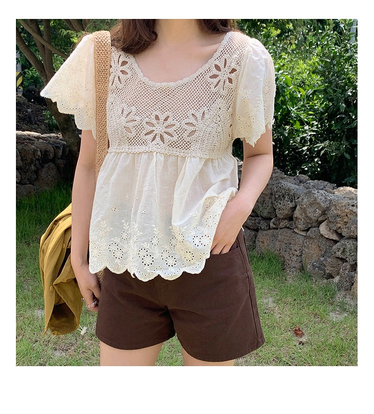 COCOMOMO Solid Color Stylish Slimming Tops Women's Shirt Casual Blouse Transparent 1Pc