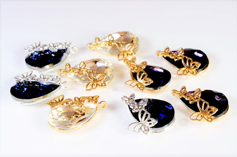 Antique Parts / Butterfly Charms / Geometric Shaped Parts / Grade A Glass Stones / Trendy Parts (10 pieces per case)