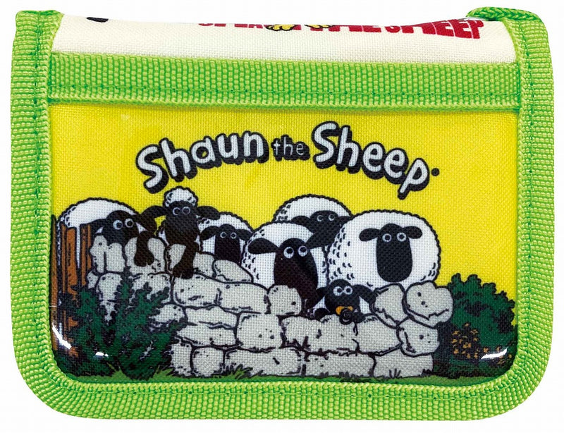 Shaun the Sheep Wallet Green 1 case 3 pieces