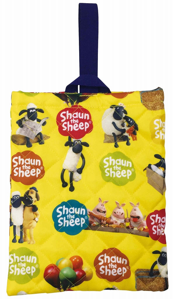 Shawn quilted dot shoe case yellow 1 Case 3 pairs of sheep
