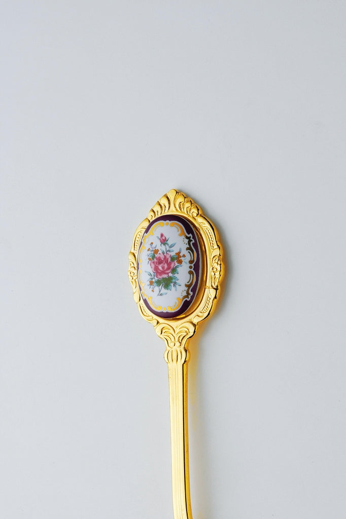 Rim-Rose Gold Tea spoon (made in Japan) 1 case
