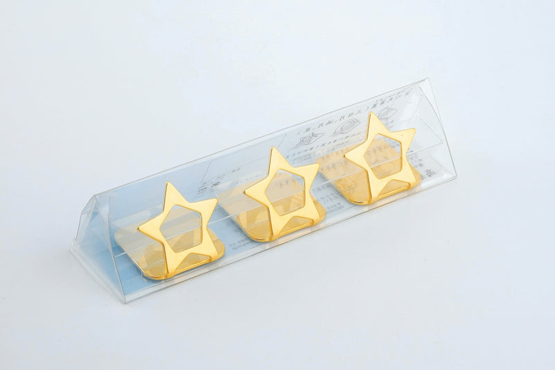 Aoi no Ten (Yoshi no Sora) Chopstick Rest Golden (Kogane) Three Stars Aligned [Made in Japan] 1 Case 1 Set