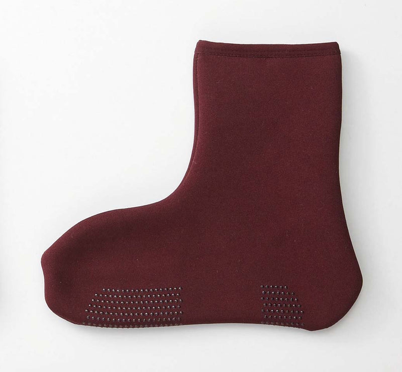 Popapoka look like ankle L size wine red 1 Case 3 pairs