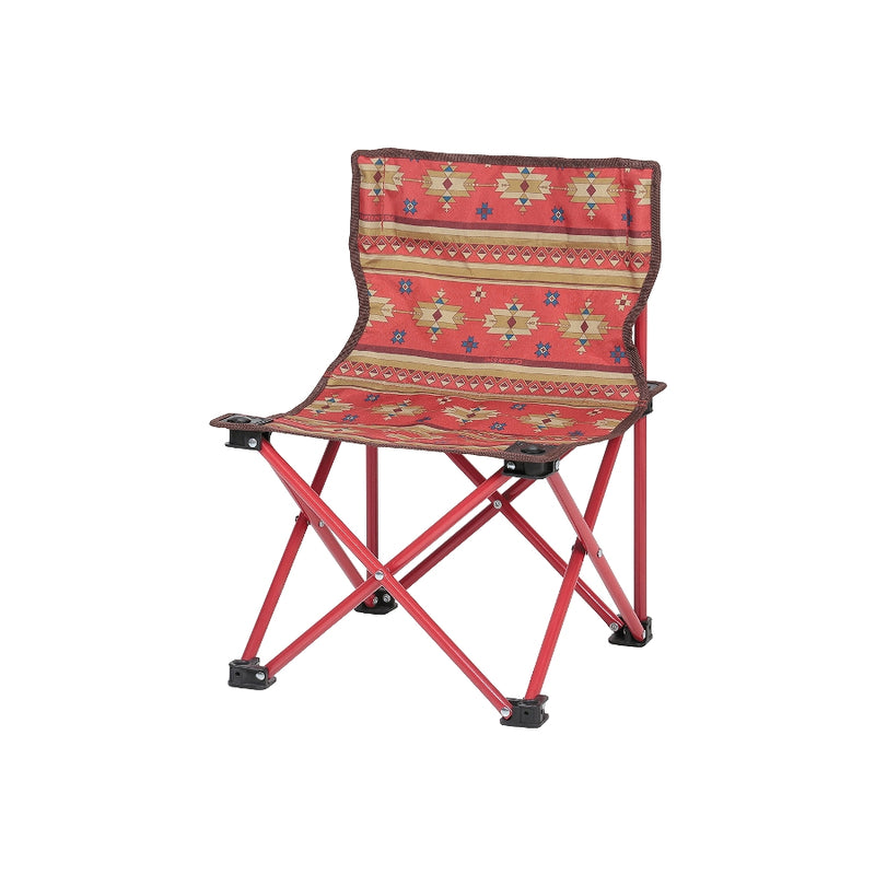 CS Native Compact Chair Red [CAPTAIN STAG] 1 case 1 set