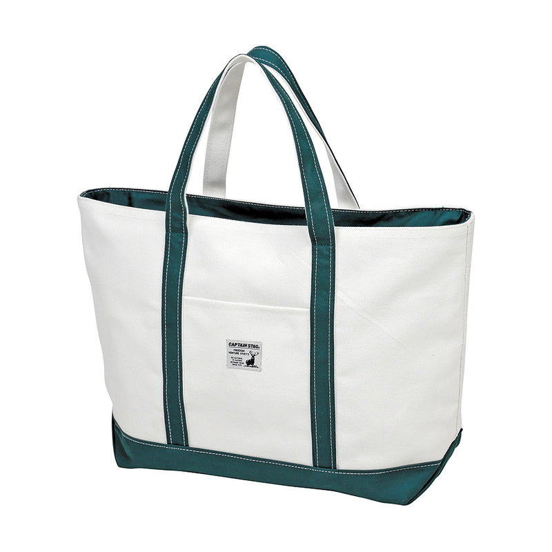 Captain Stag Cotton Tote L Green [CAPTAIN STIG] 1 case