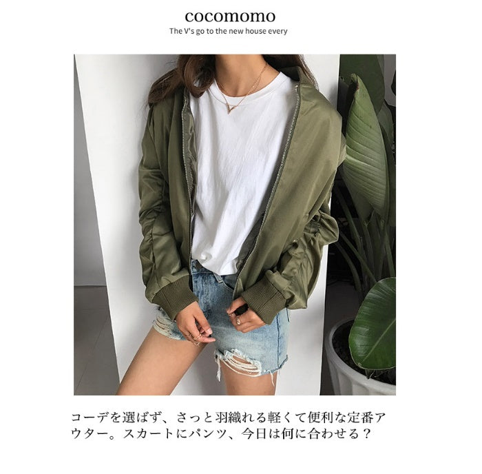 COCOMOMO Sticking to the Fabric Women's Fashion Blouson Women's 1Pc