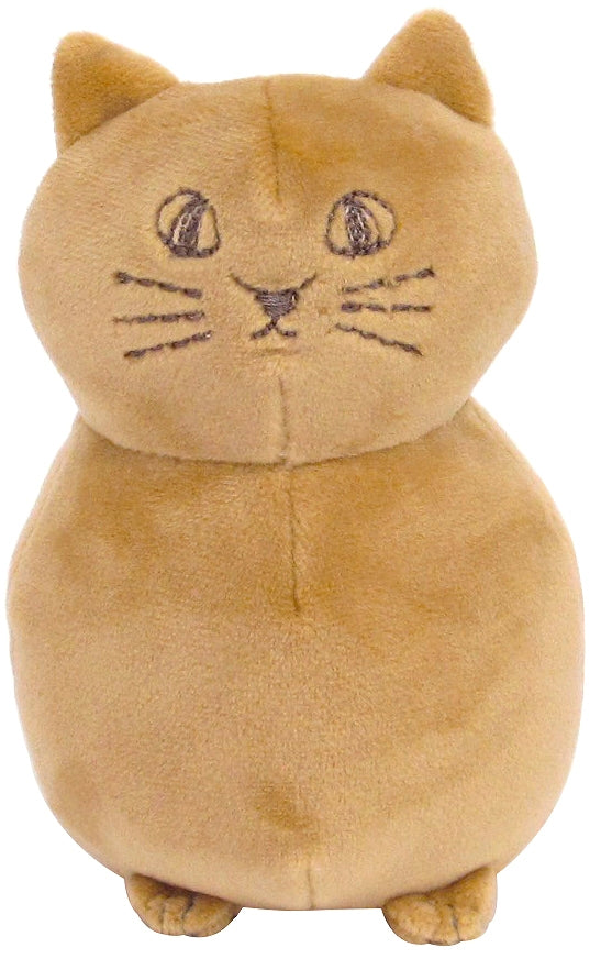 Nyafu Nyafu Cat Palm sitting plush toy Brown 1 case 1 set