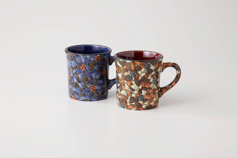 Mosaic Mug Pair 1 Case