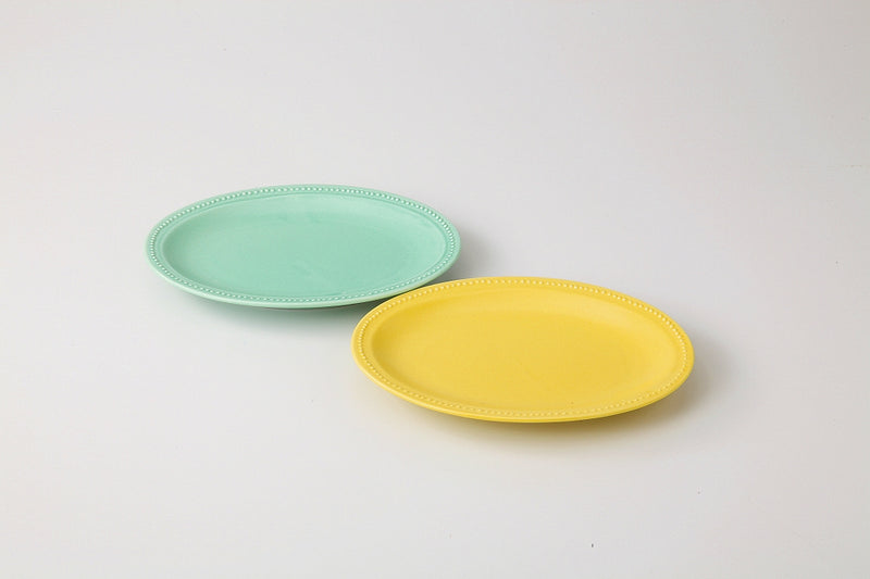 Dot-rim Oval S Pair (Pastel) 1 Case 1 set