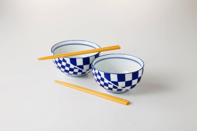 Genroku small style favorite bowl pair (with chopsticks) 1 case 1 set
