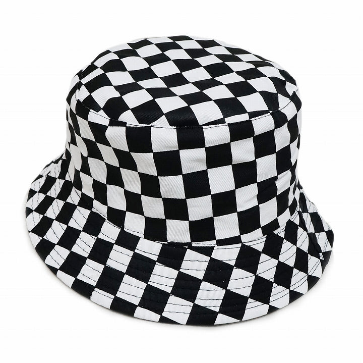 Hat Hat Bucket Hat HAT Cotton Reversible Checker Womens Keys 1 pair