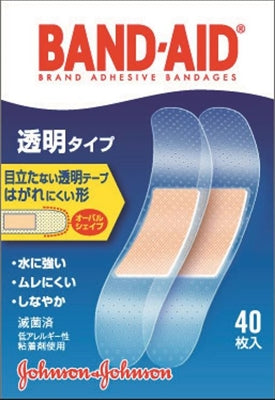 Band-Aid first aid accompaniment transparent type [Johnson & Johnson] [adhesive plaster] 36 pieces per case
