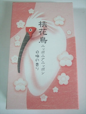 Peach flower bird (toki) white plum scent incense stick [Kameyama] [incense stick] 40 pieces per case