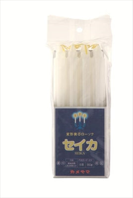 Kameyama Torch Mark Deformation Yellow Core No. 15 (Square Bag) [Kameyama] [Candle] 30 pieces per case