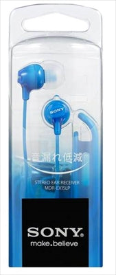 Headphones MDR-EX15LPLI Blue [Sony] [Charger / SD / Mobile] 50 pieces per case