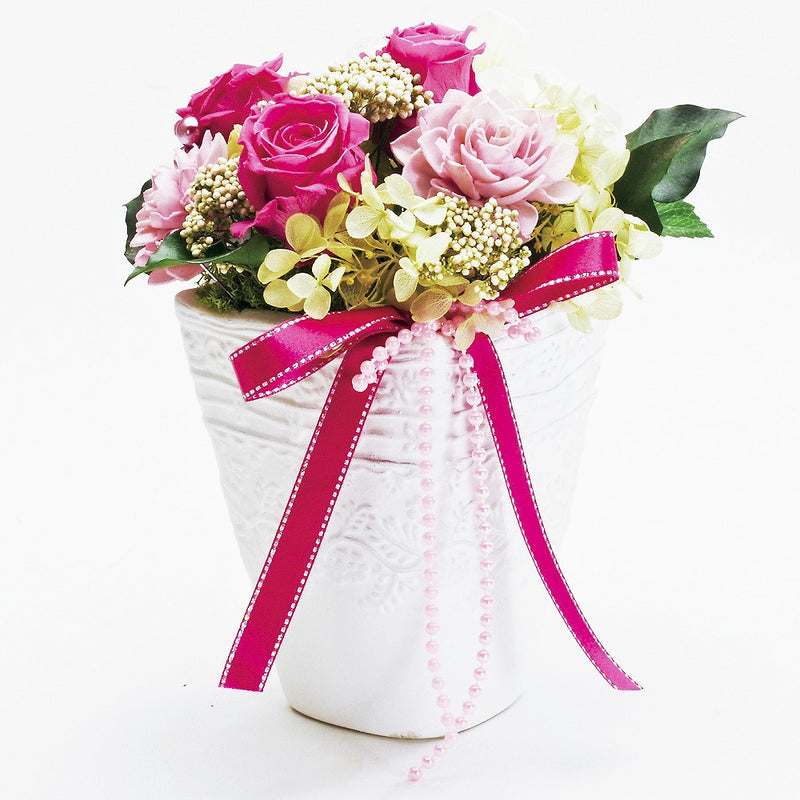 Priza arrangement, vase, [Rose], [Gift].