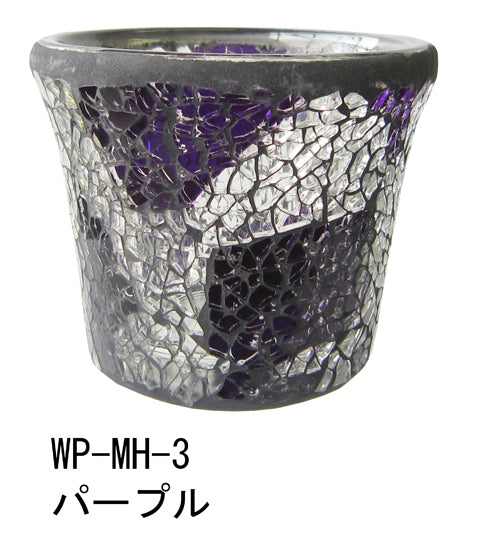 Wrapped Mosaic Holder Purple