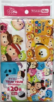 Tsum Tsum Assorted Mini Pocket Tish 12 pieces [Kawano Paper] [Tissue] 1 case 64 pieces