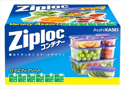 Zip Lock Container Variety Sort [Asahi Kasei Home Products] [Kitchen Supplies] 24 pieces per case